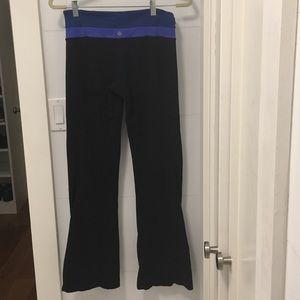 Lululemon reversible flared leg yoga pants
